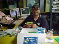KVKI 96.5 Radio Personality enjoying Lettuce Jammers